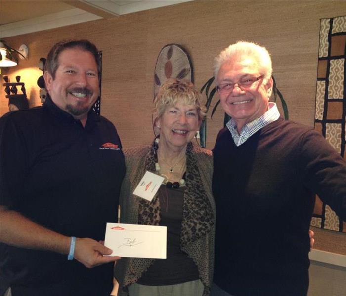 General Contest Prize Awarded SERVPRO AREA Meeting